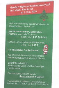 weihnachtsbaumverkauf in flechtorf